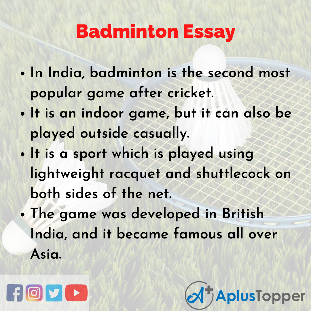 Essay about Badminton