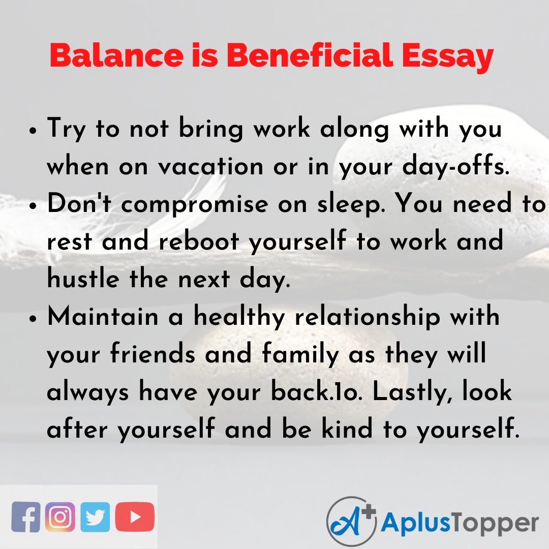 Essay about Balance is Beneficial