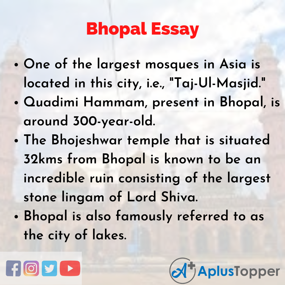 Essay about Bhopal