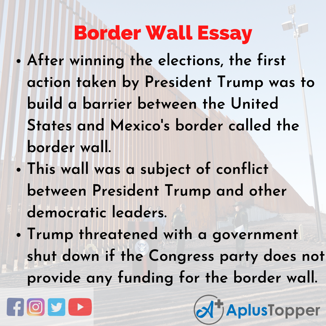 Essay about Border Wall