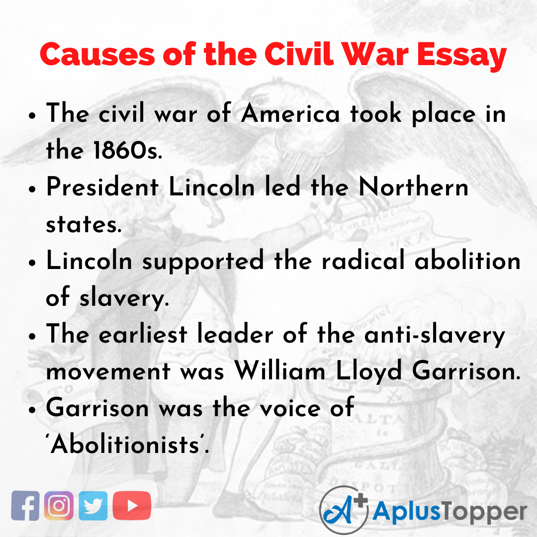 Essay about Causes of the Civil War