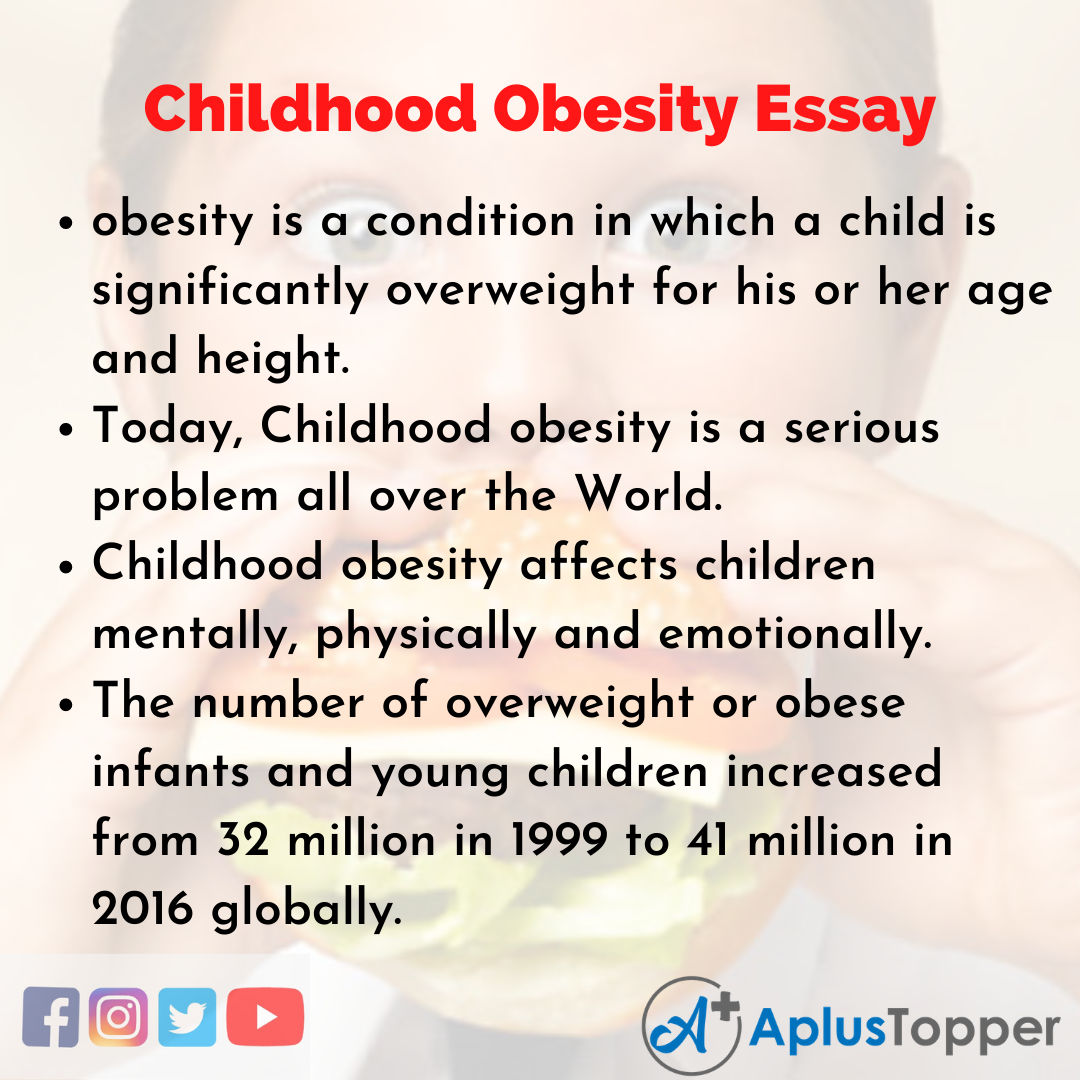 Essay about Childhood Obesity