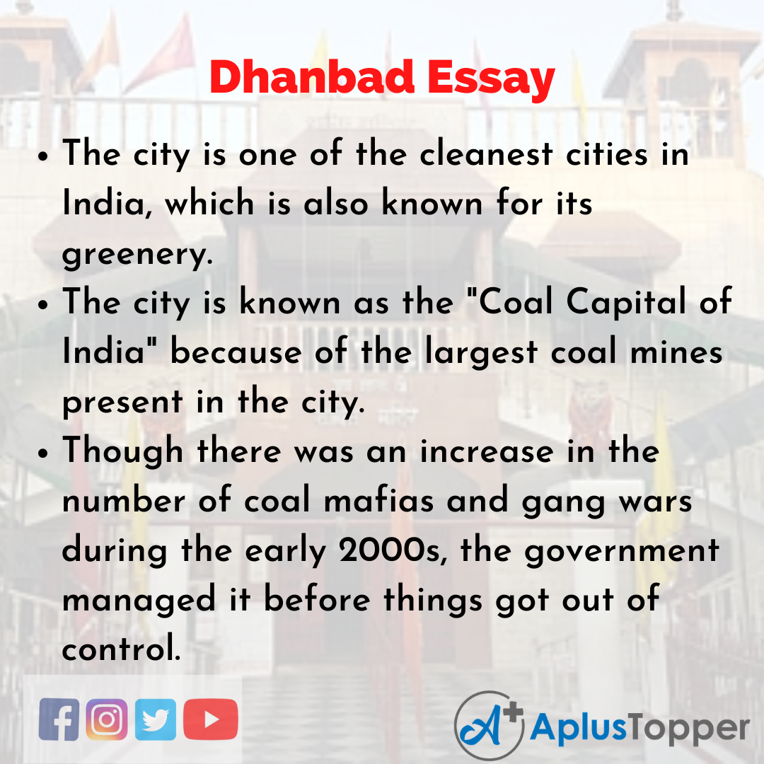 Essay about Dhanbad