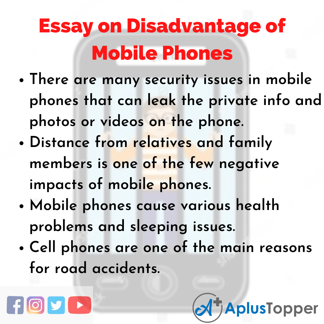 Essay about Disadvantage of Mobile Phones