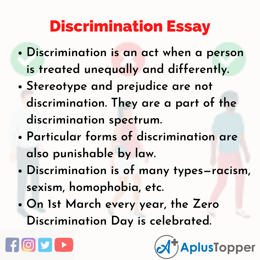Essay about Discrimination