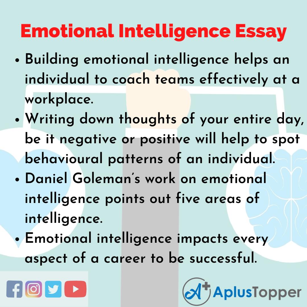 Essay about Emotional Intelligence