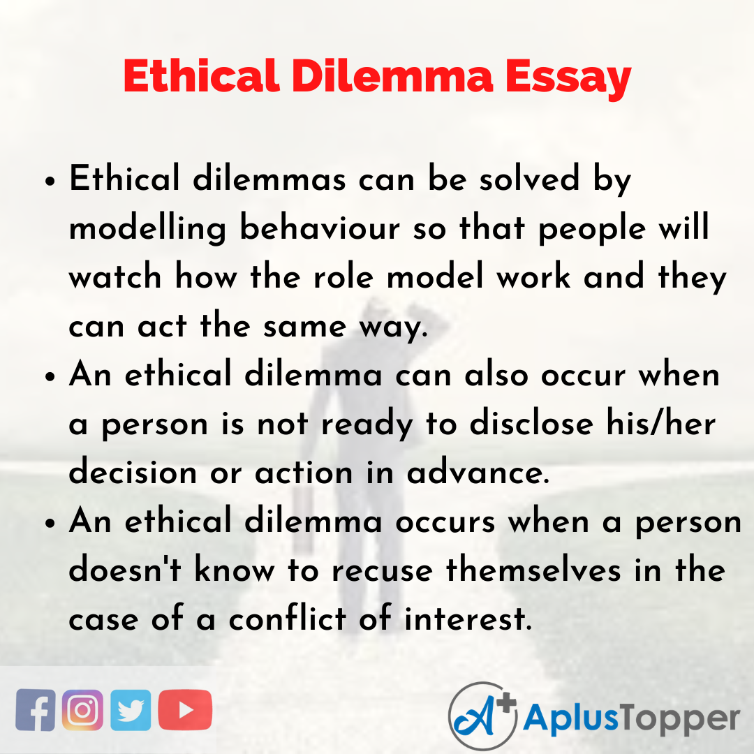 Essay about Ethical Dilemma
