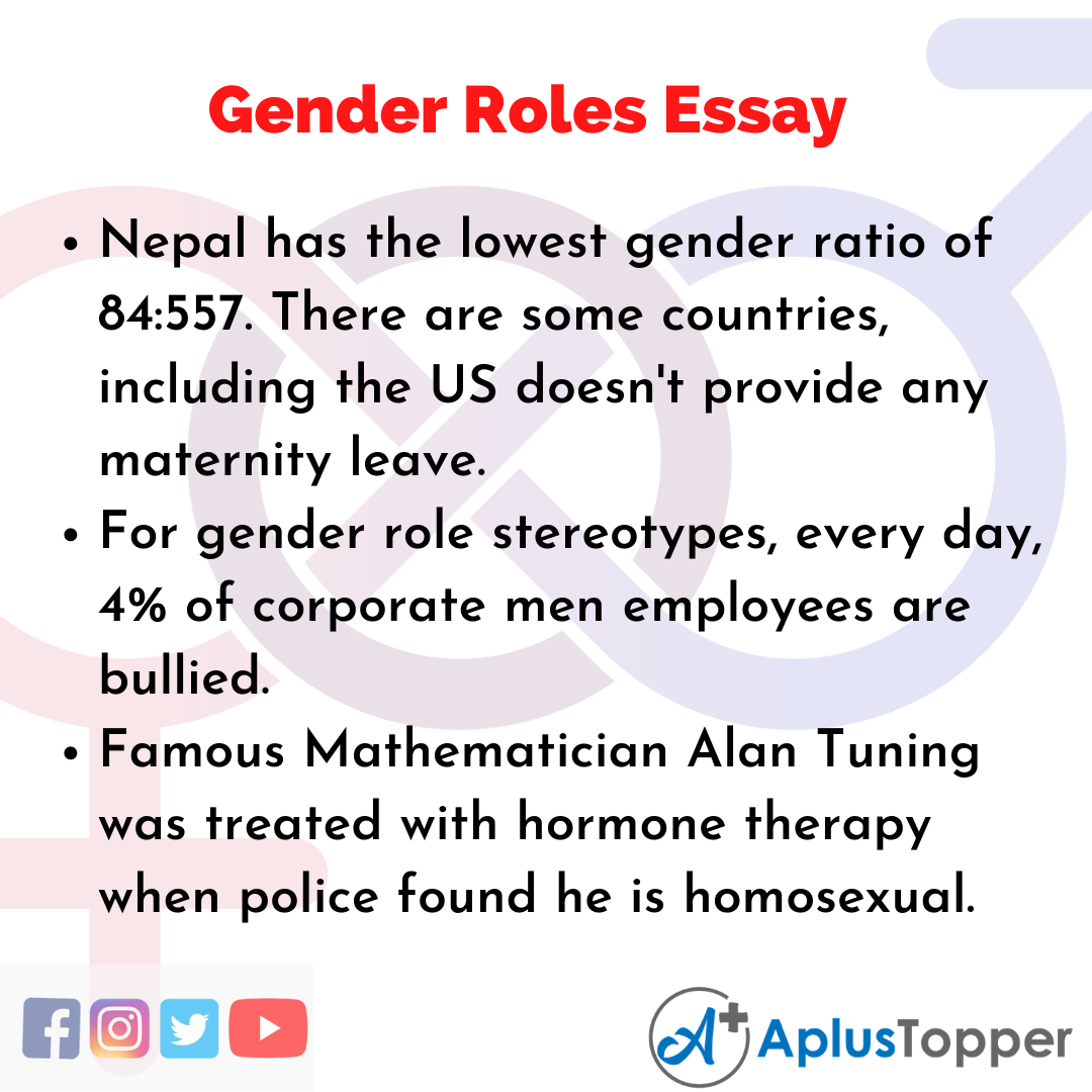 Stereotype gender essay short essay on my parents for class 1