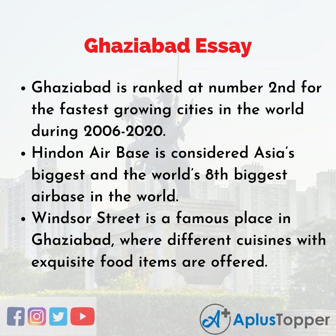 Essay about Ghaziabad