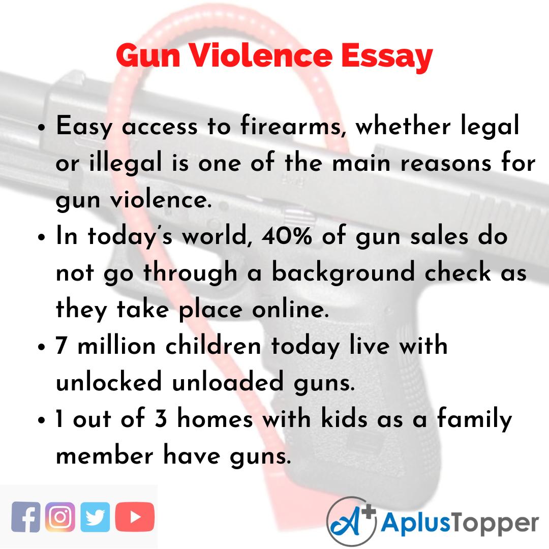Essay about Gun Violence