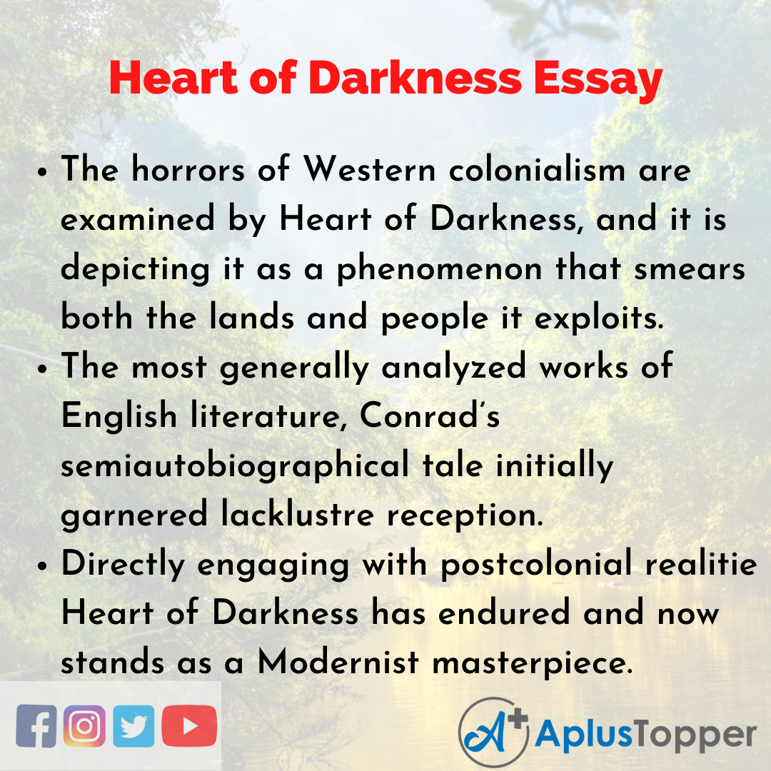 Essay about Heart of Darkness