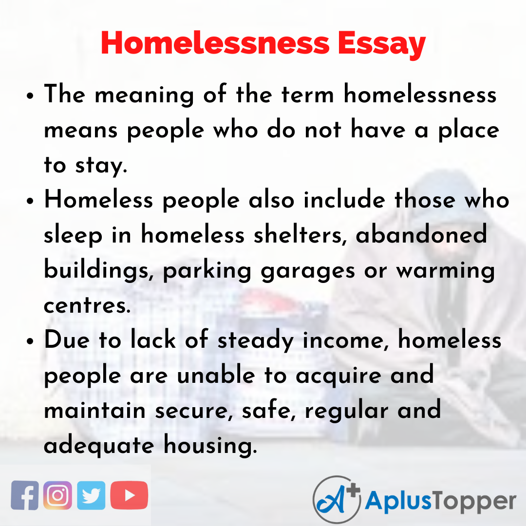 Essay about Homelessness