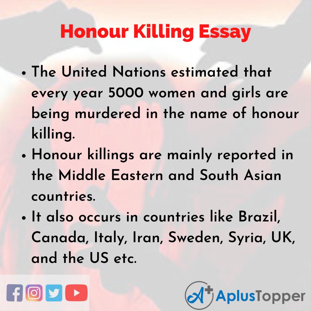 Essay about Honour Killing