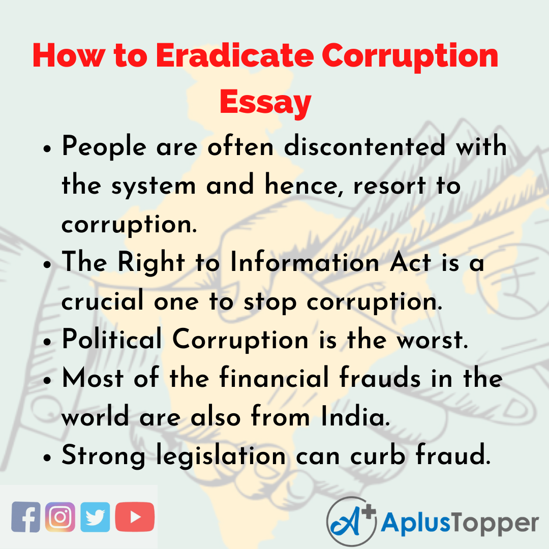 Essay about How to Eradicate Corruption
