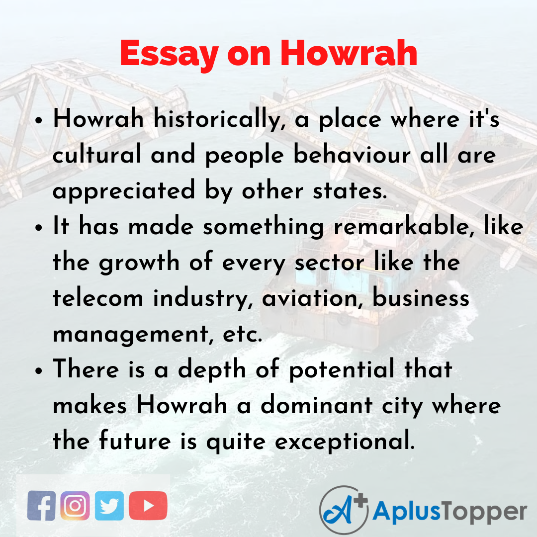 Essay about Howrah