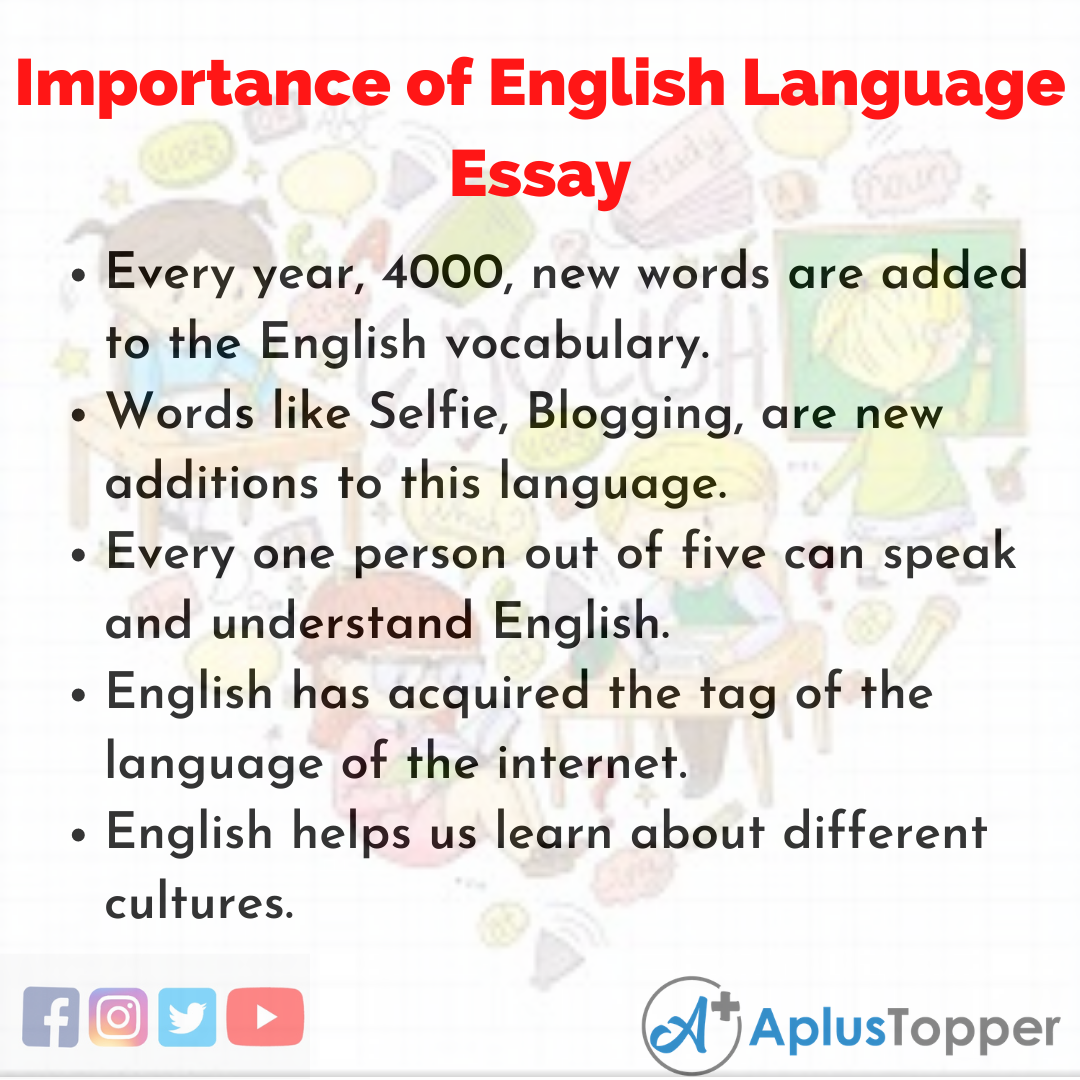 Essay about Importance of English Language
