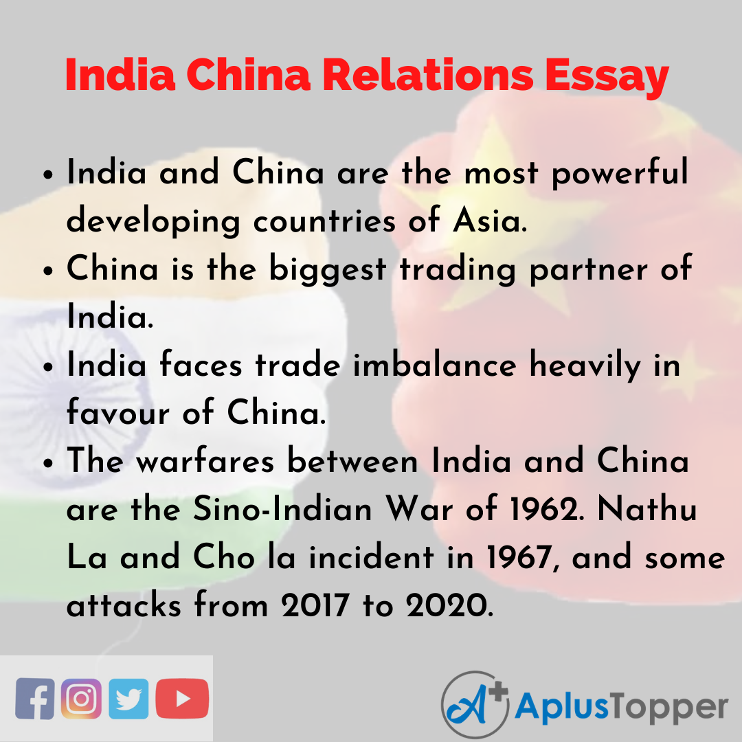 Essay about India China Relations
