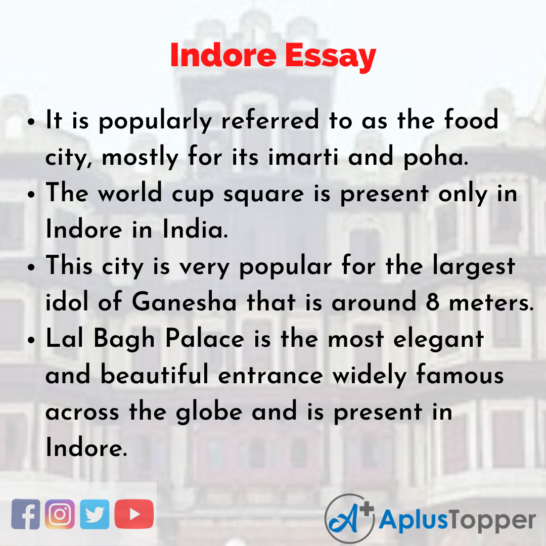 Essay about Indore