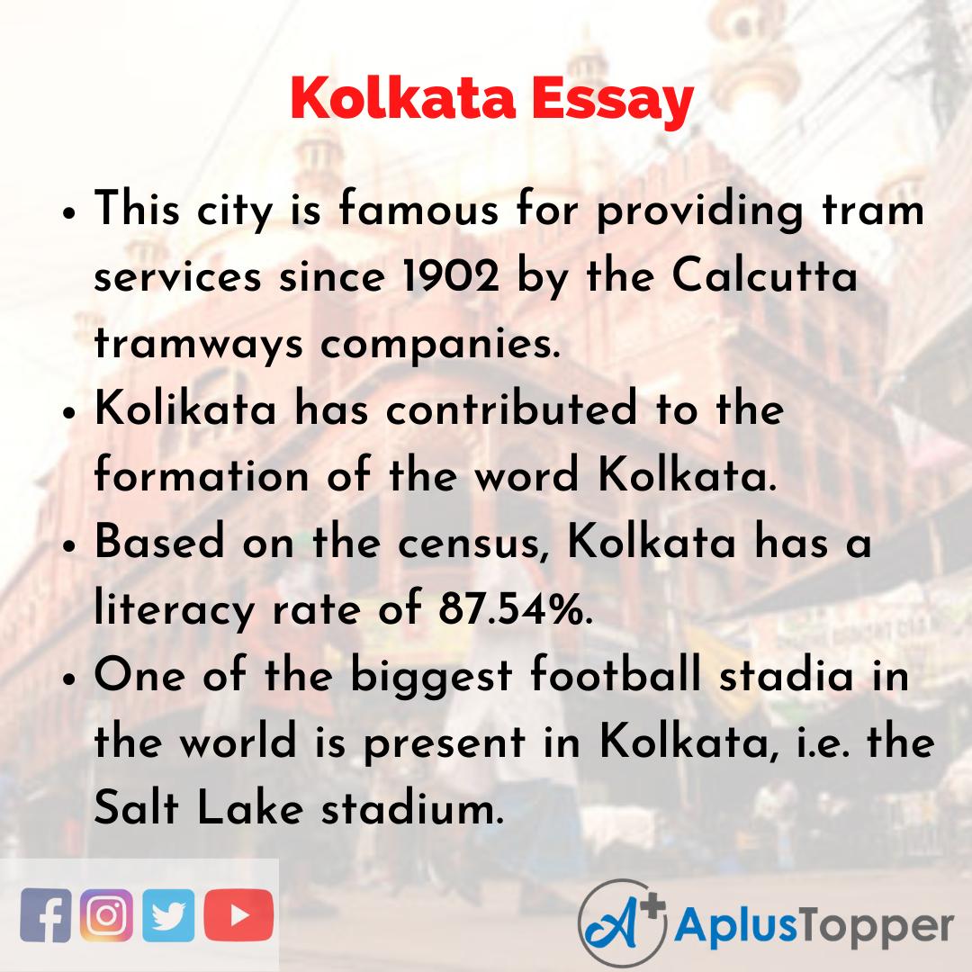 Essay about Kolkata