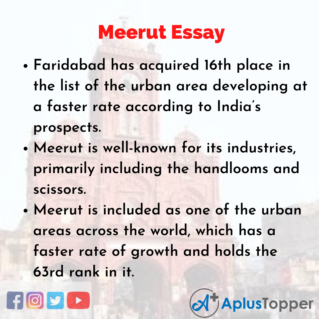 Essay about Meerut