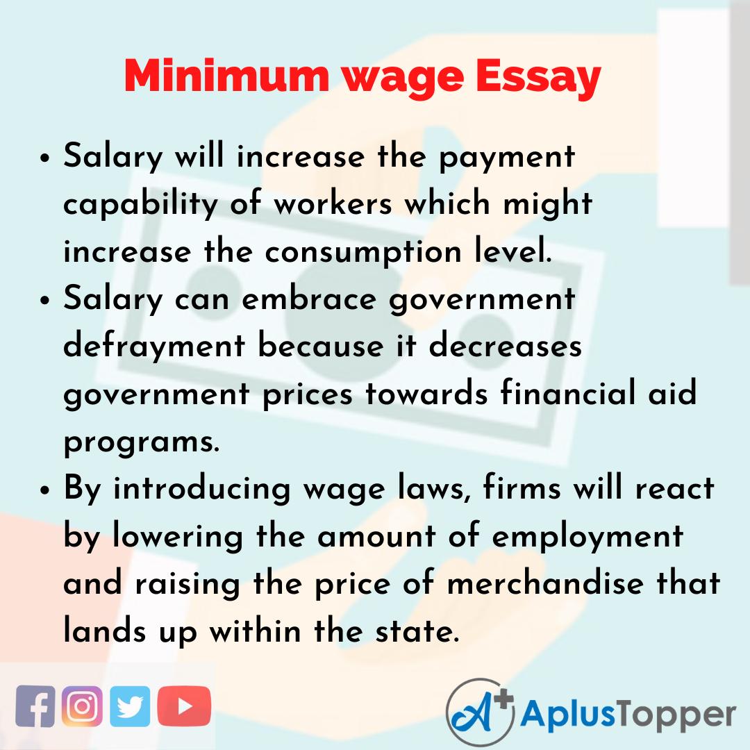 Essay about Minimum wage