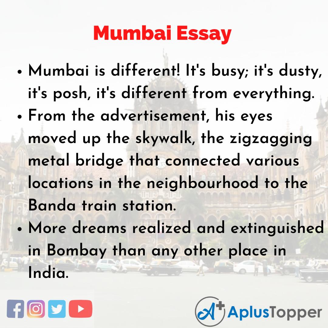 Essay about Mumbai