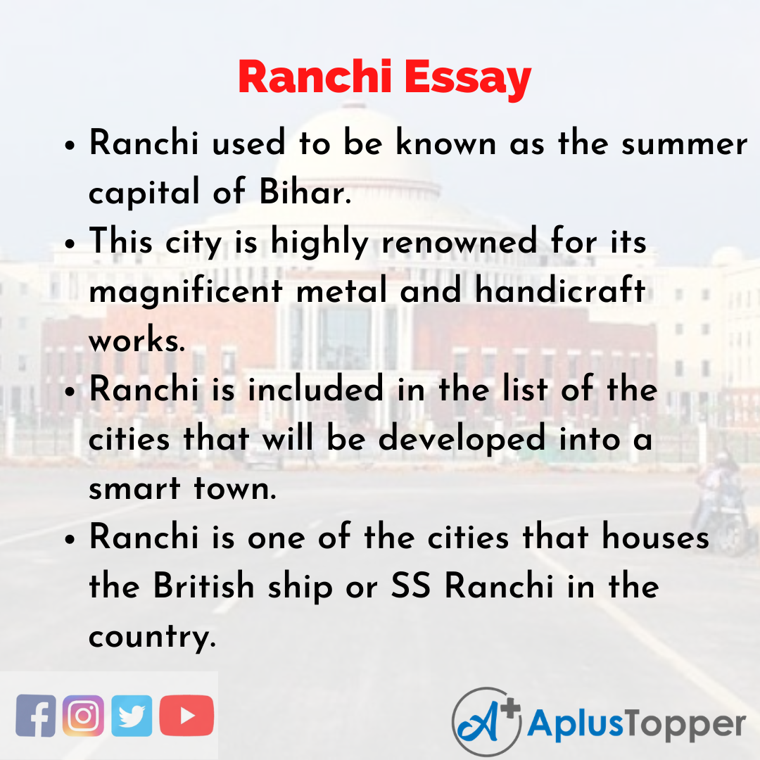 Essay about Ranchi