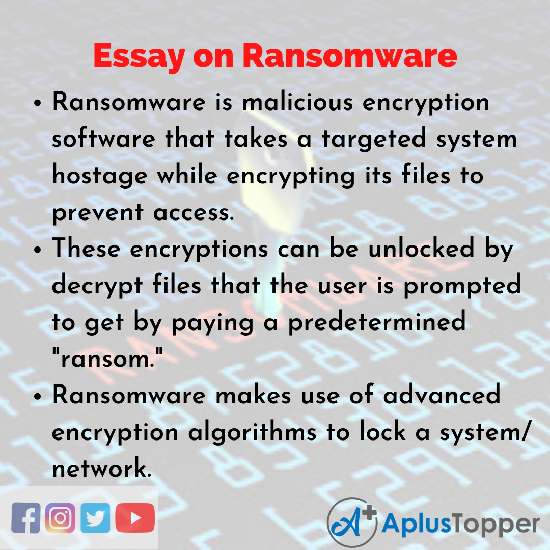 Essay about Ransomware