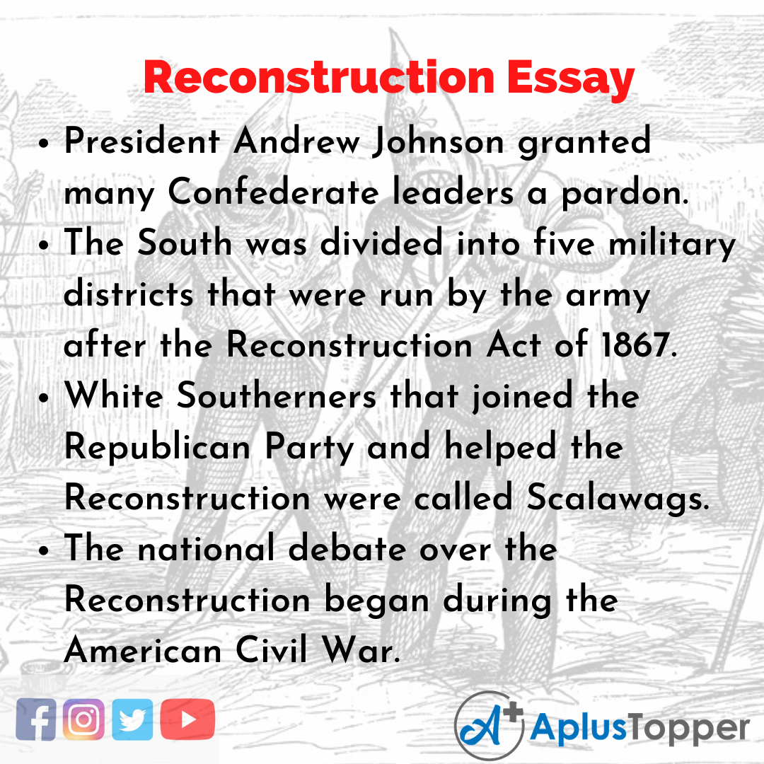 Essay about Reconstruction