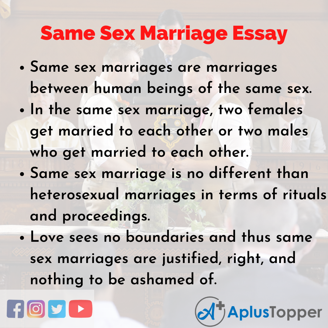 Essay about Same Sex Marriage