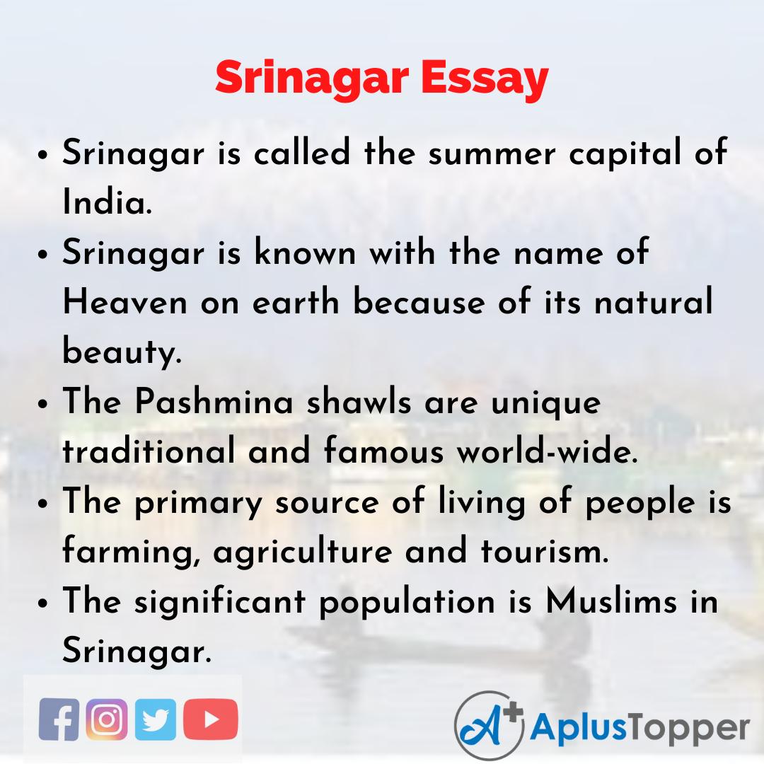Essay about Srinagar