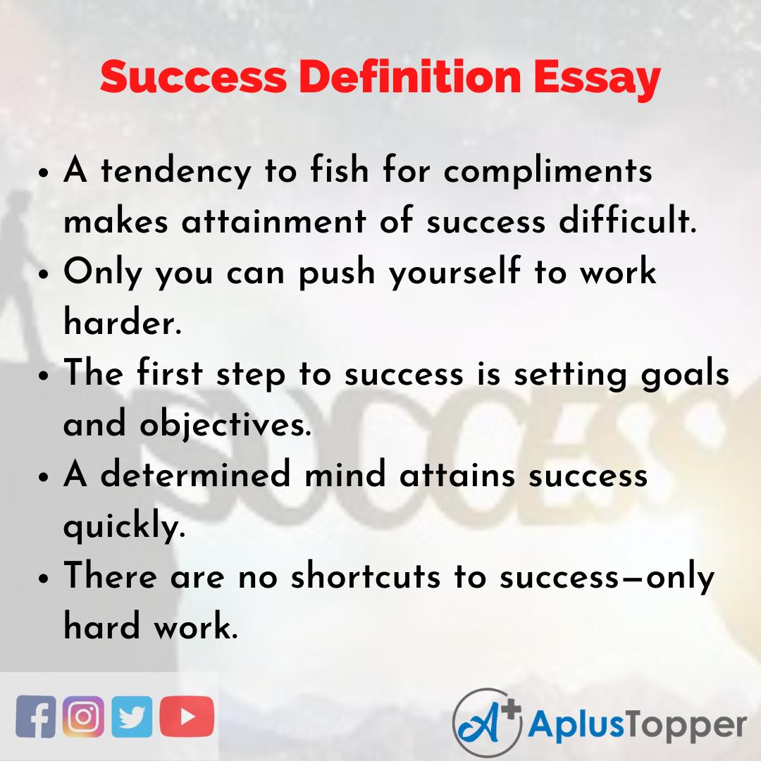 Essay about Success Definition
