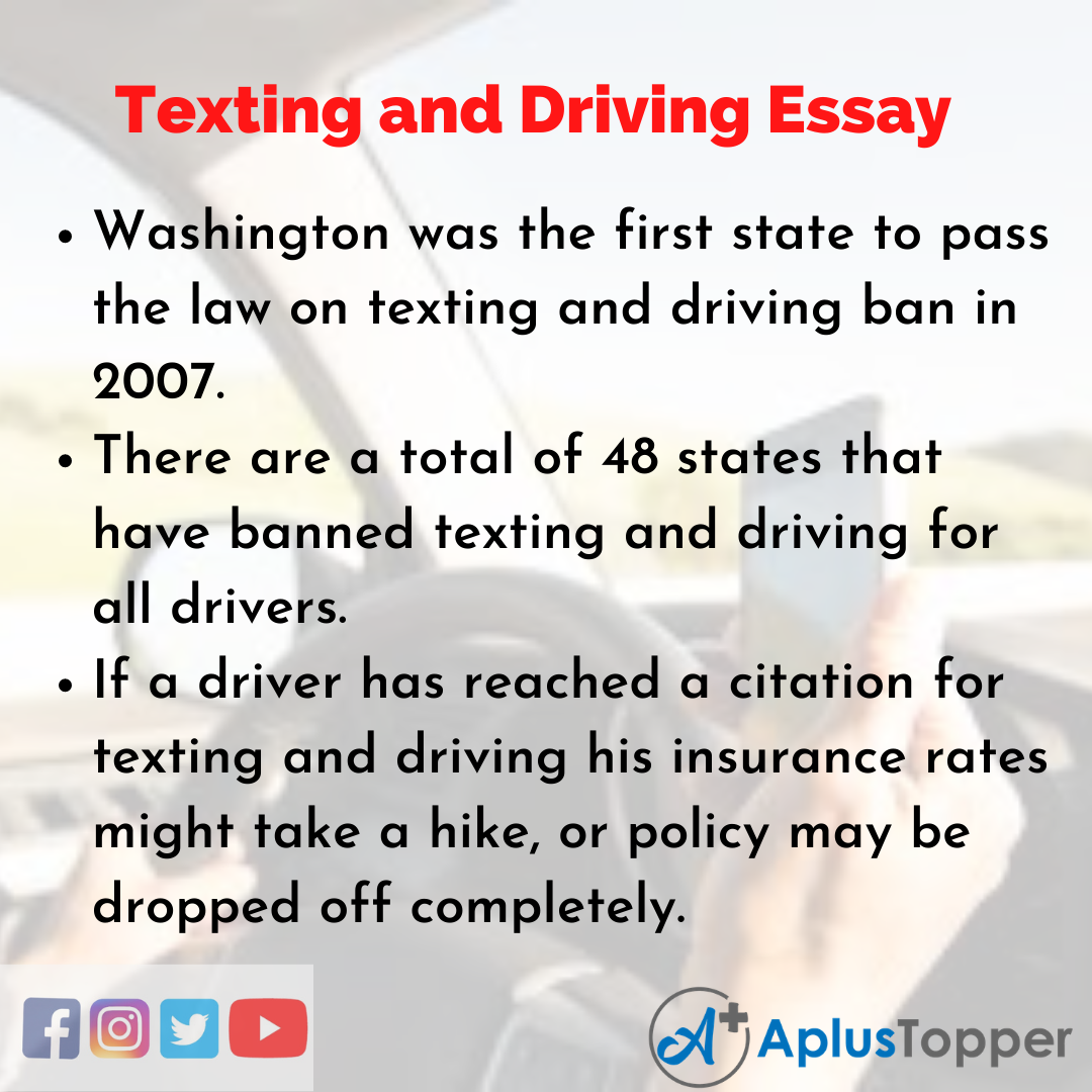 Essay about Texting and Driving