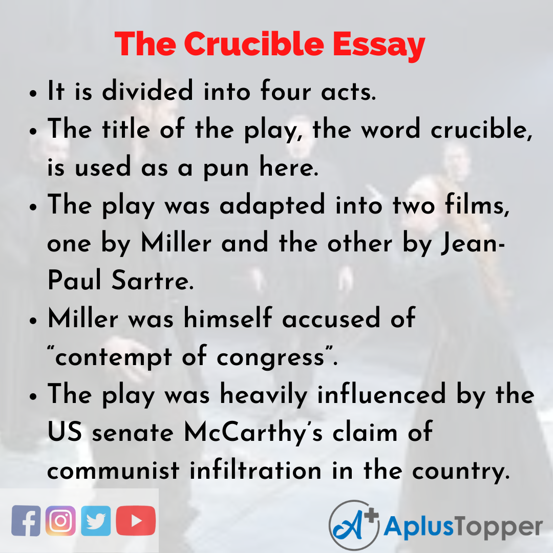 Essay about The Crucible