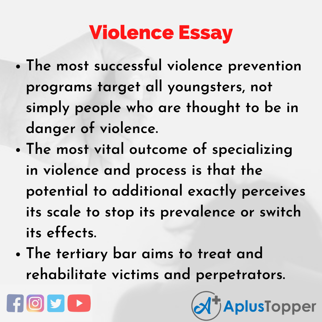 Essay about Violence