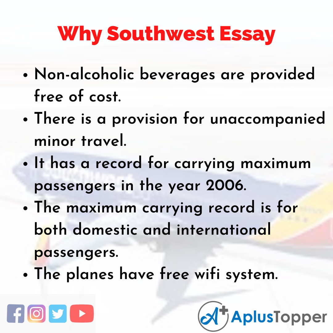 Essay about Why Southwest