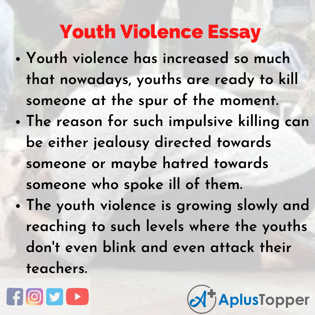 Essay about Youth Violence