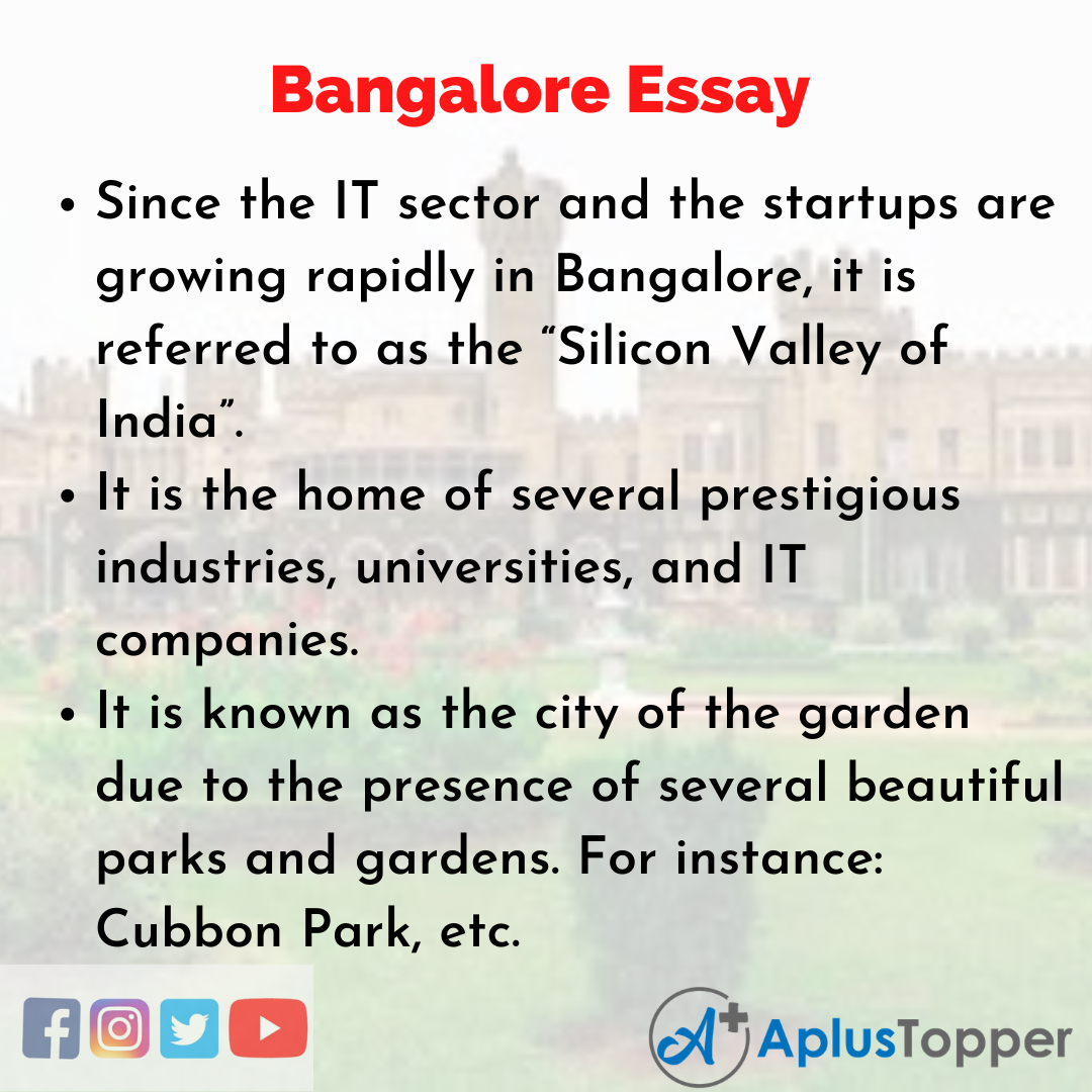 Essay of Bangalore