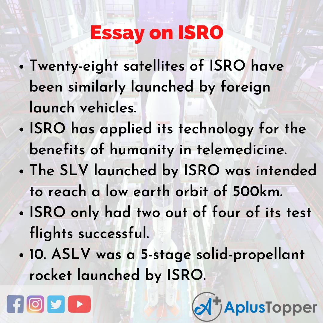 Essay of ISRO