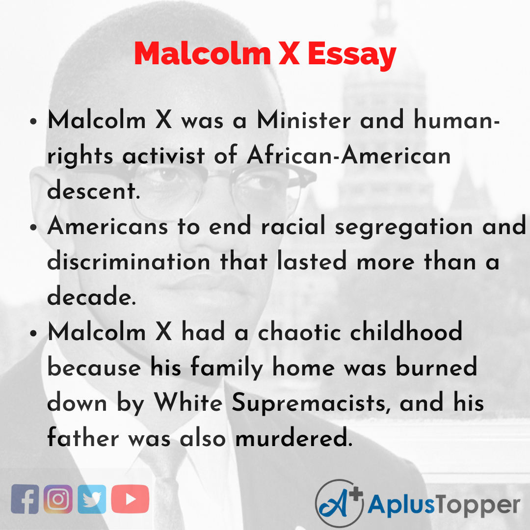 Essay of Malcolm X