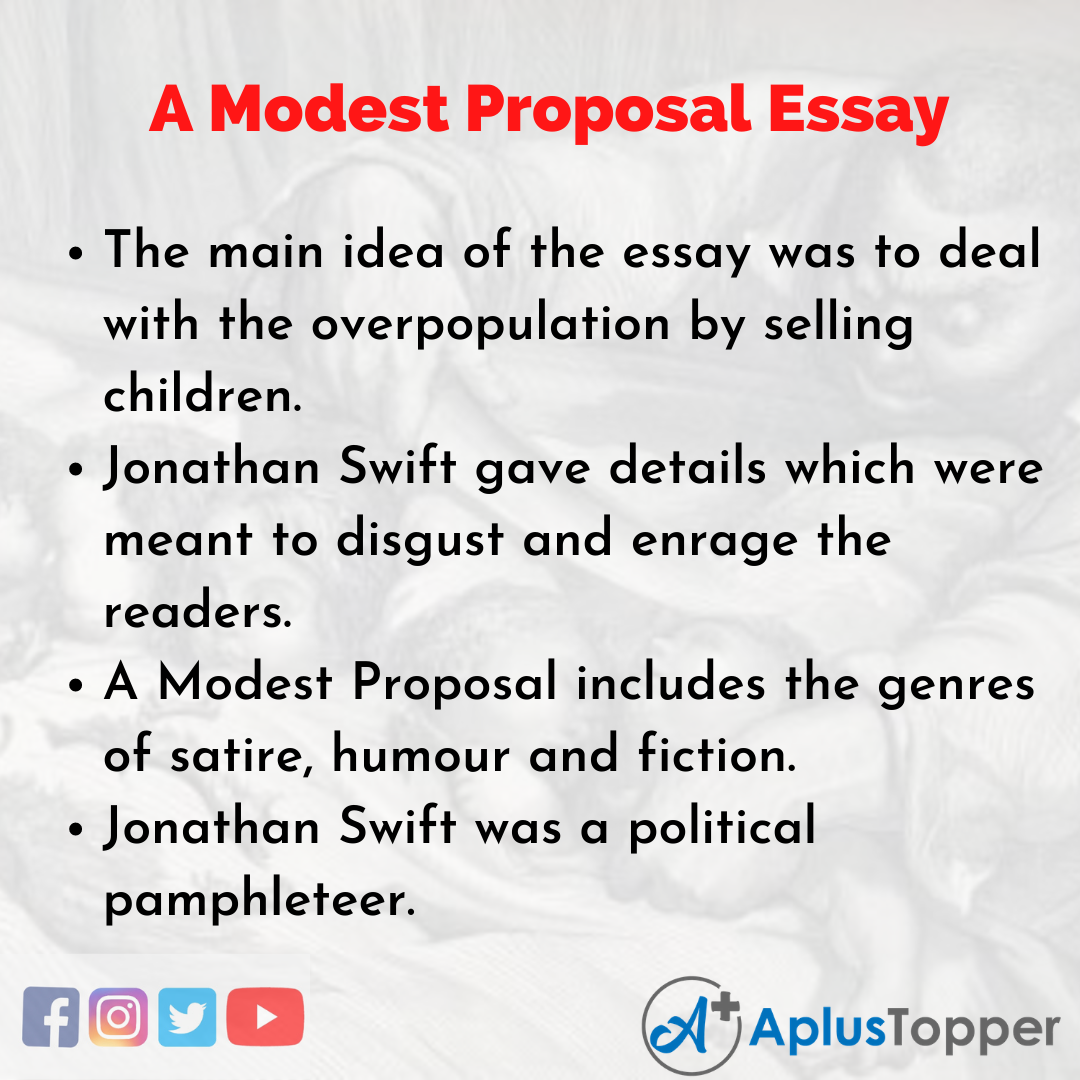 Essay on A Modest Proposal
