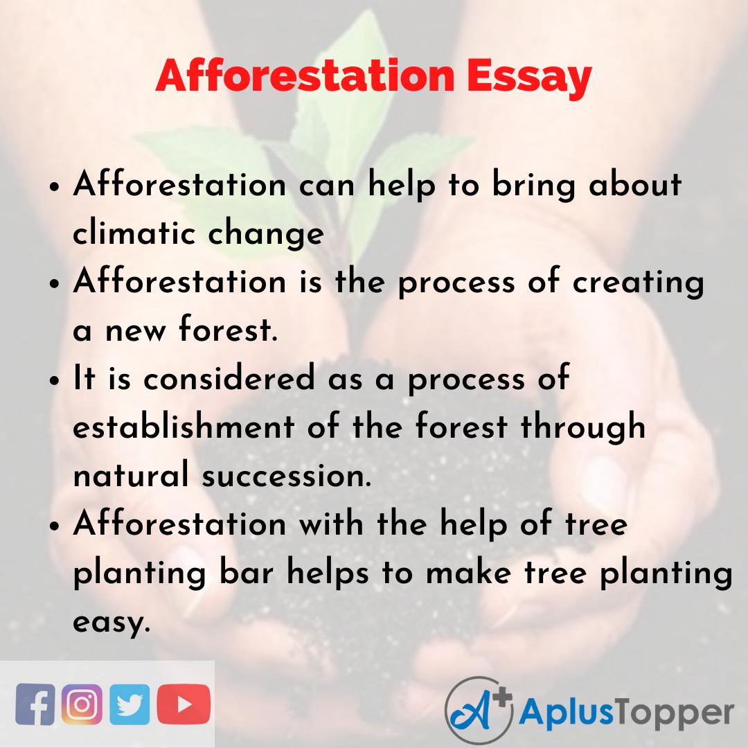 Essay on Afforestation