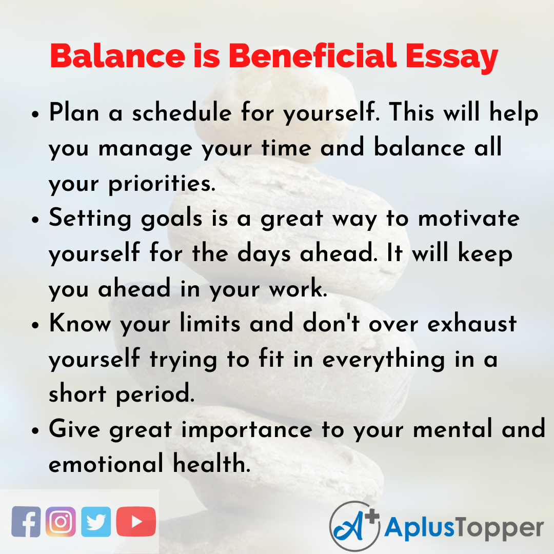 Essay on Balance is Beneficial
