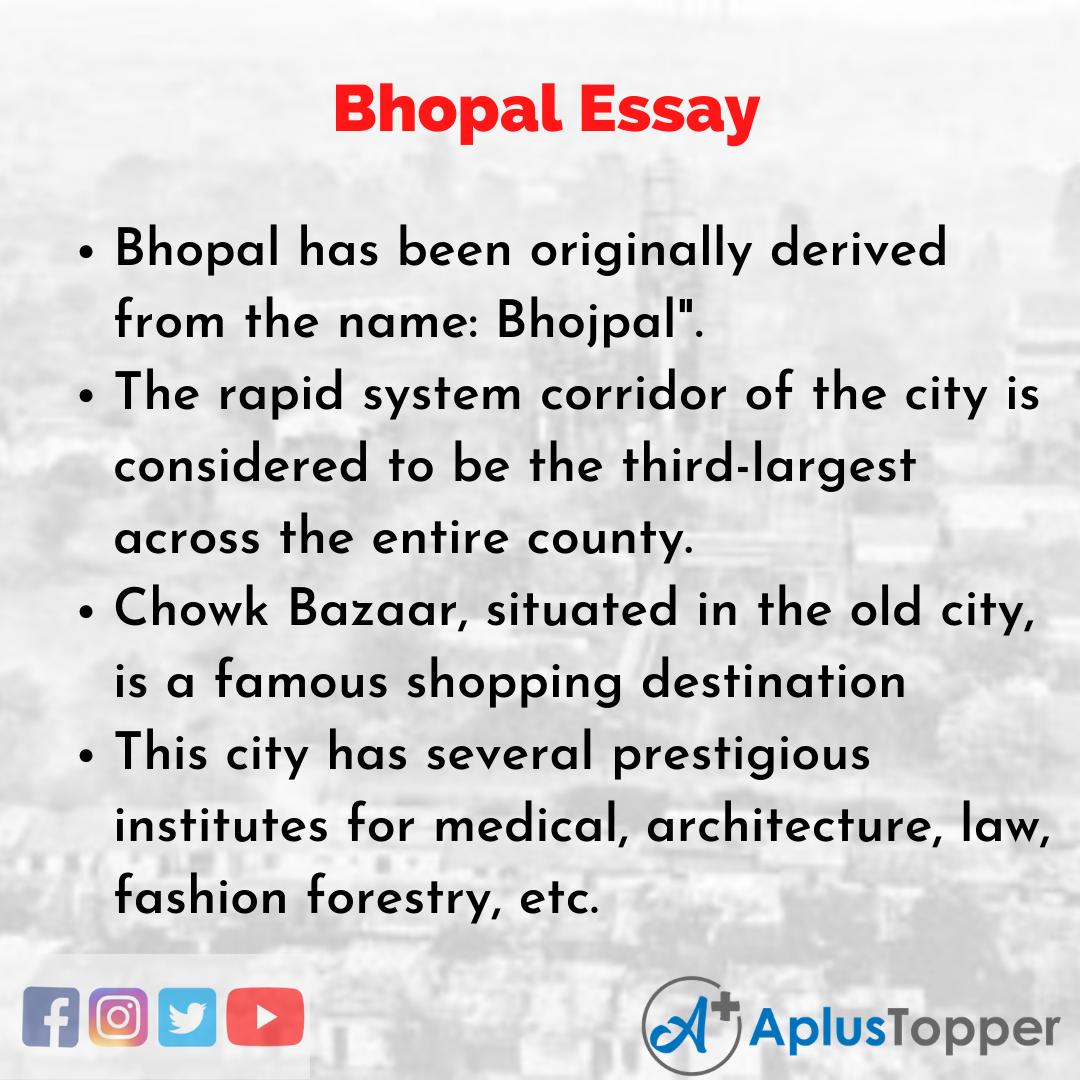 Essay on Bhopal