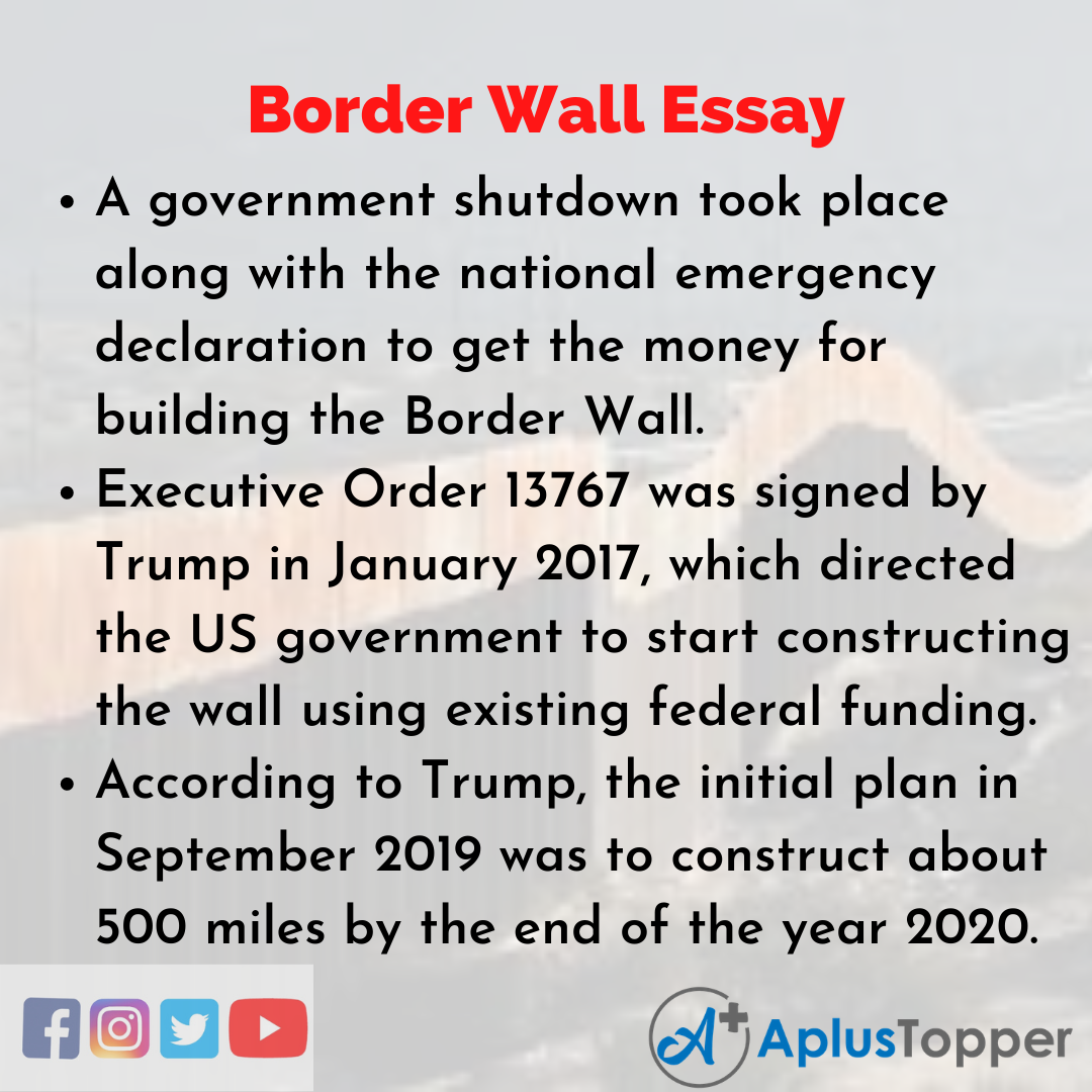 Essay on Border Wall