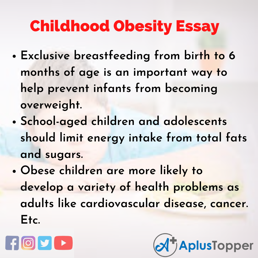 Essay on Childhood Obesity