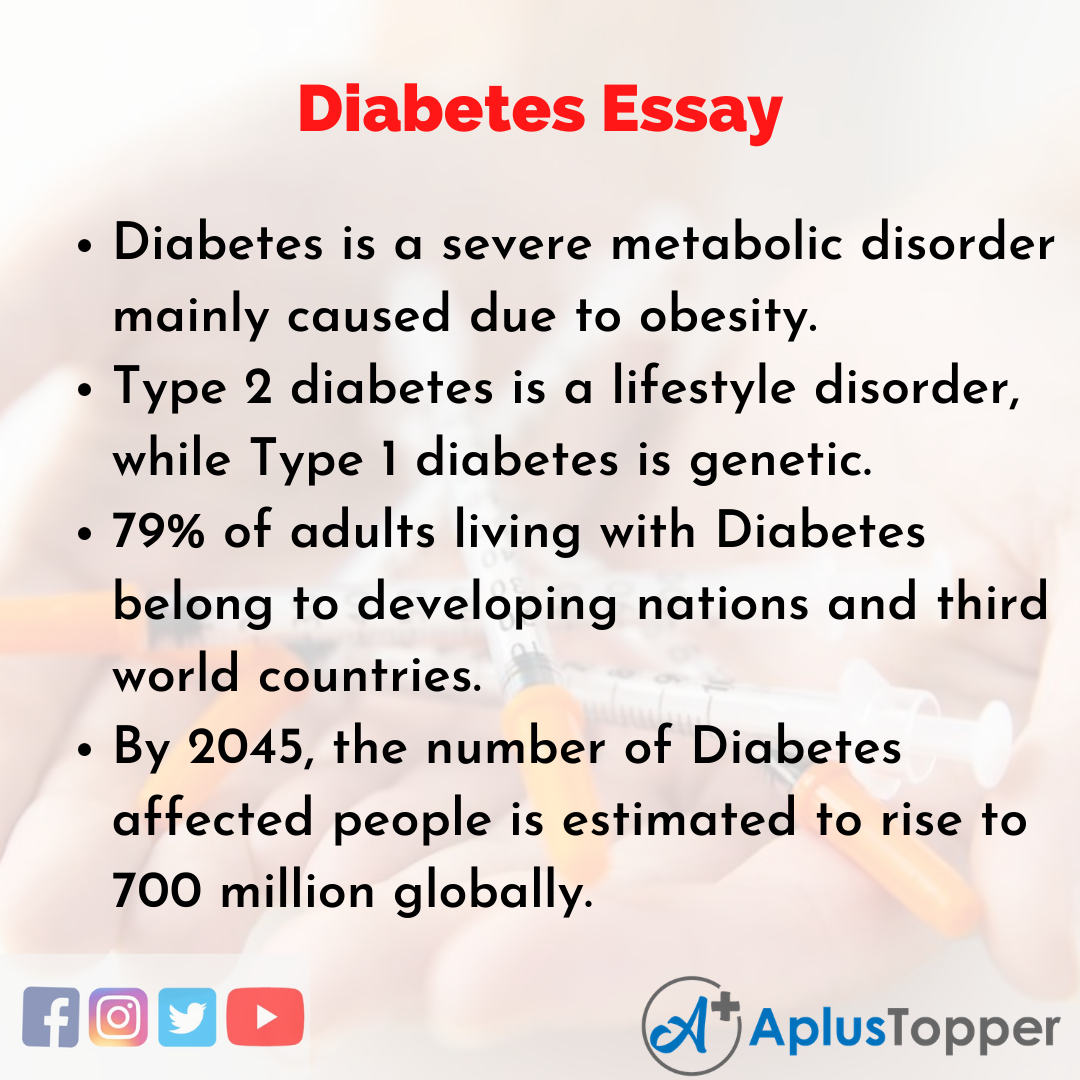 Essay on Diabetes