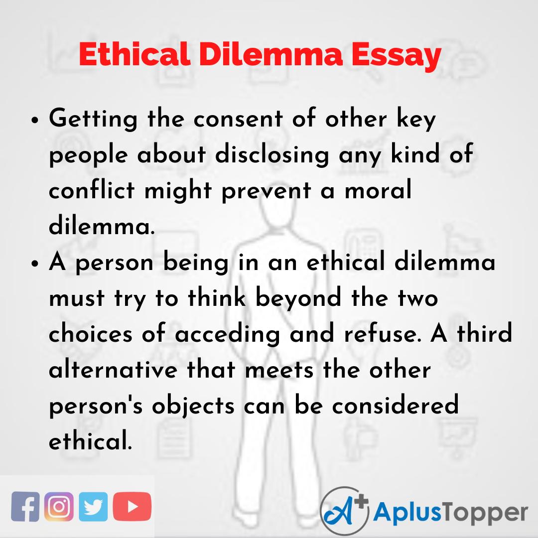 Essay on Ethical Dilemma