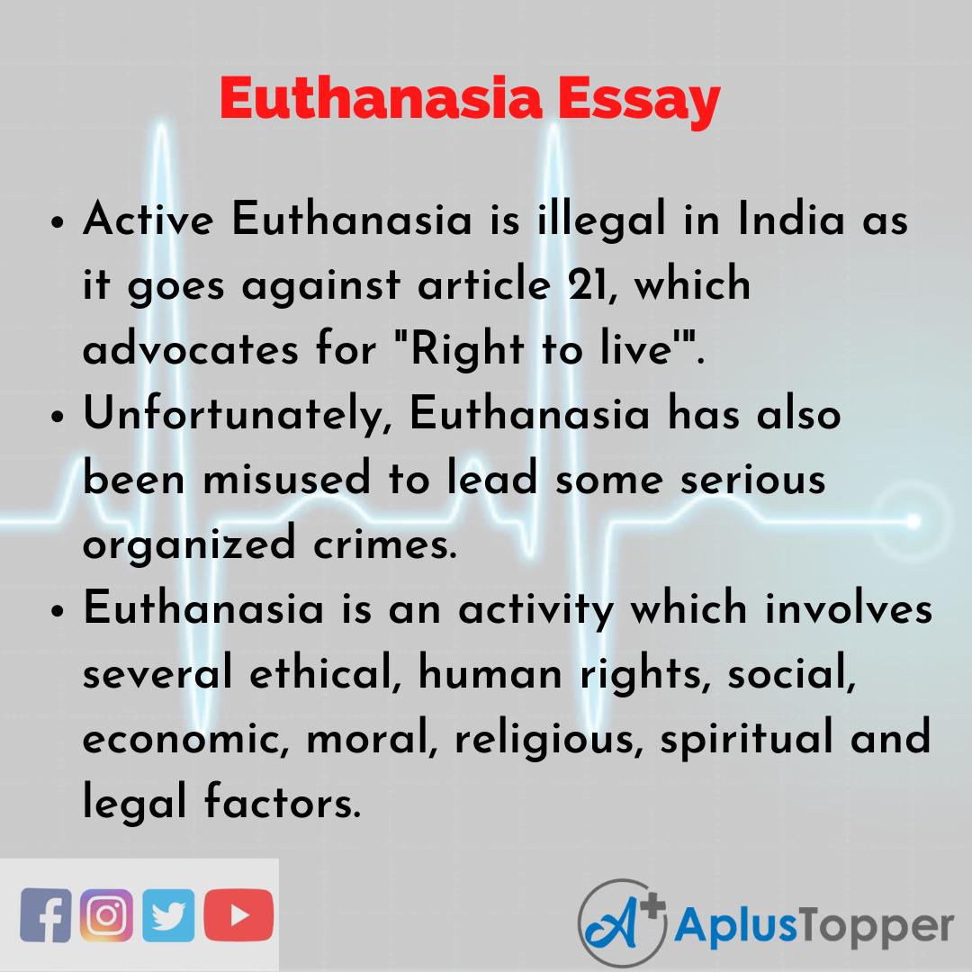 Essay on Euthanasia Essay
