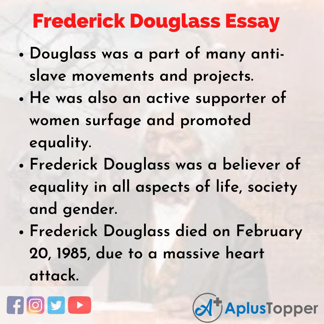 Essay on Frederick Douglass